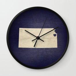 Kansas City, Kansas Love Map Art Wall Clock
