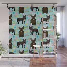 French Bulldog brindle coat easter spring dog costume custom pet portraits Wall Mural