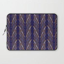 Navy Blue Wheat Grass Laptop Sleeve