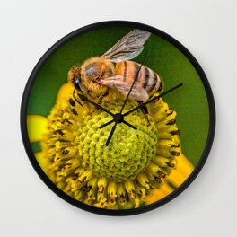 Be On A Flower Wall Clock