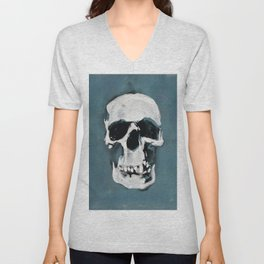 The Sherlock Skull Unisex V-Neck