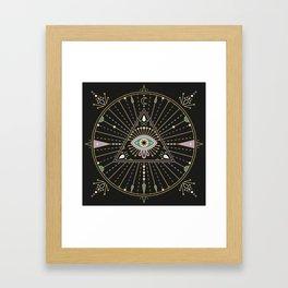 Evil Eye Mandala – Black Framed Art Print