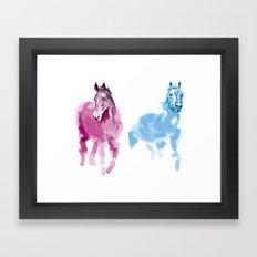 Two horses Framed Art Print