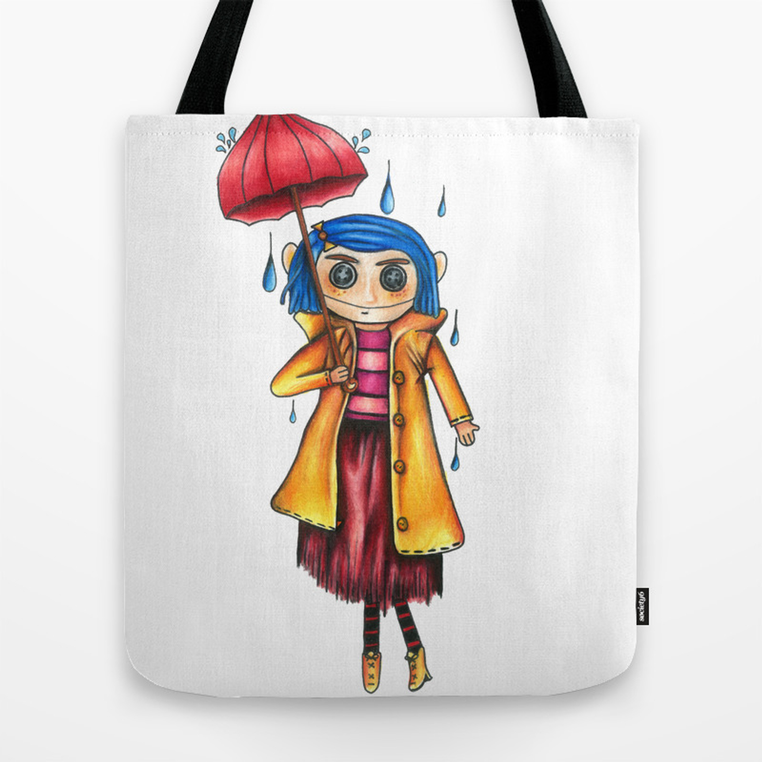 Coraline Doll Tote Bag By Garrettkroach Society6