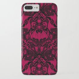 Bats and Beasts - Blood Red iPhone Case