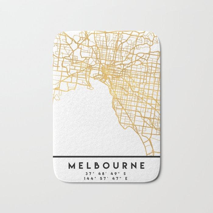 Street Map Australia.Melbourne Australia City Street Map Art Bath Mat