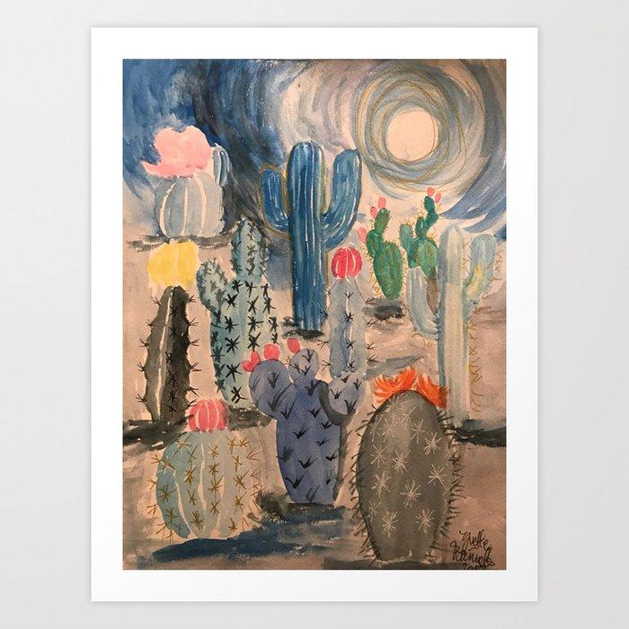 Escape into the Deep Blue Desert Kunstdrucke