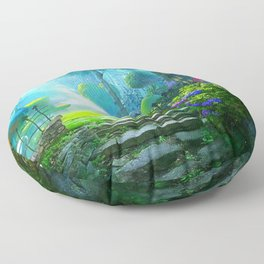 Fascinating Gorgeous Idyllic Dreamy Magic Garden UHD Floor Pillow