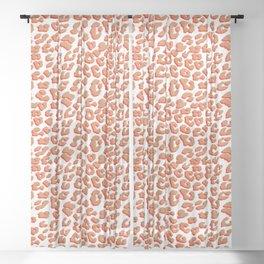 Orange Red Leopard Print Sheer Curtain