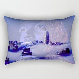 Purple portrait architecture Rectangular Pillow