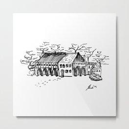 Les Hameaux, Versailles - Sketch Metal Print