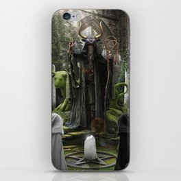 V. The Hierophant Tarot Card Illustration (Color) iPhone Skin