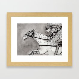 Hippogriff Racing Framed Art Print