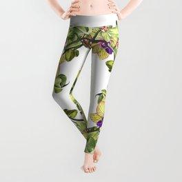 Wreath, Orchid, Clipart, watercolor, handpainted, floral, flower, design, stylish, weddig Leggings