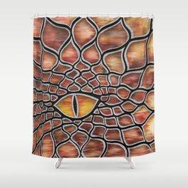 Smolder Dragon Shower Curtain