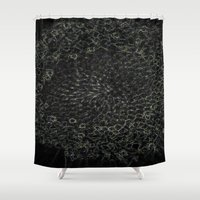 sacred geometry Shower Curtains featuring Sacred Geometry by Wghdesign