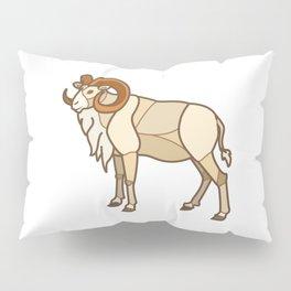Geometric Dall Sheep Pillow Sham