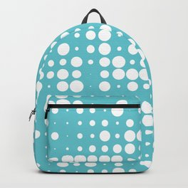white polka dots Backpack