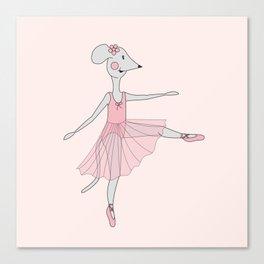 illusima Ballerina Mouse Canvas Print