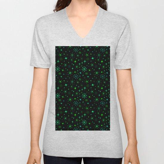 Atomic Starry Night in Neon Green Glow + Black by elliottdesignfactory