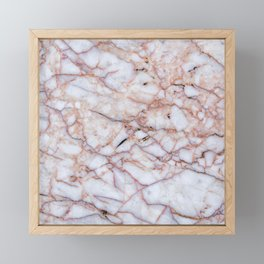 Pink Marble Framed Mini Art Print