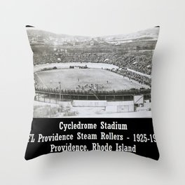 Providence Steam Rollers Cycledrome Football Stadium, Providence, Rhode Island Throw Pillow