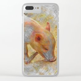 Artistic Animal Piglet Clear iPhone Case