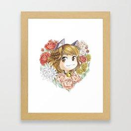 Hearty kitty Framed Art Print