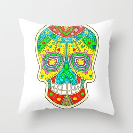 Sugar Skull - Day of the Dead Throw Pillow