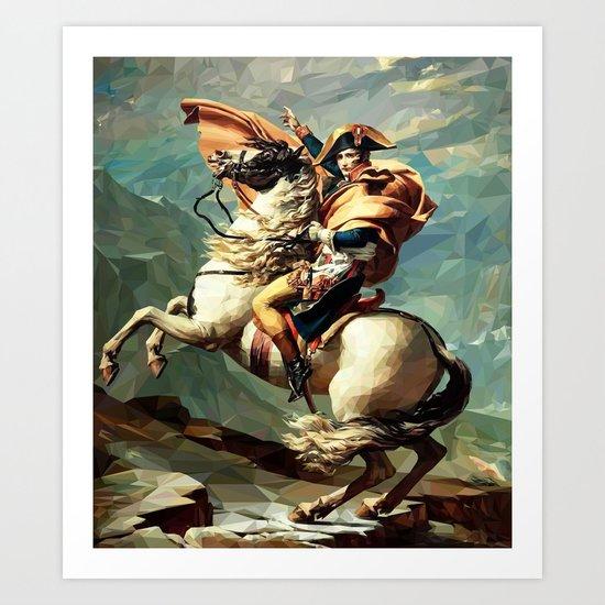 France's Napoleon Crossing the Alps Art Print