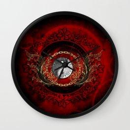 The sign ying and yang Wall Clock