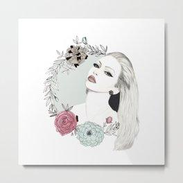 Floral Wreath Metal Print