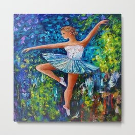 Dance In The Rain Of Color Metal Print