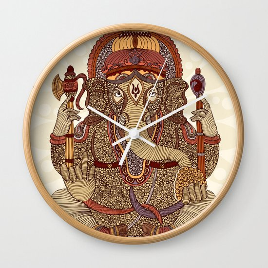 Ganesha: Lord of Success Wall Clock