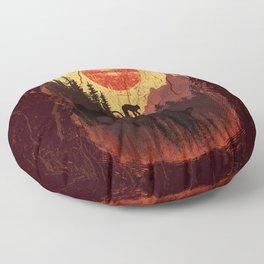 Vintage Downhill Floor Pillow
