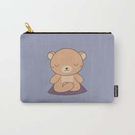 Kawaii Cute Yoga Bear Carry-All Pouch