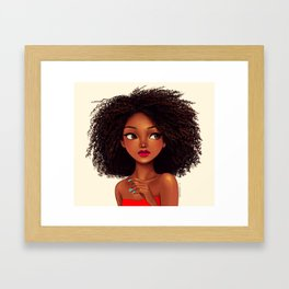 more curls Framed Art Print