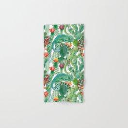 chameleon cacti pattern Hand & Bath Towel