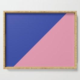 Reflex Blue & Pink - oblique Serving Tray