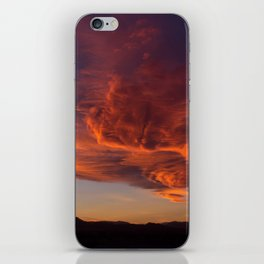Desert Sky on Fire iPhone Skin