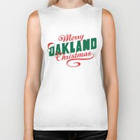 oakland Biker Tanks featuring Merry Oakland Christmas by Keeley Marie McSherry