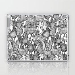 just chickens black white Laptop & iPad Skin
