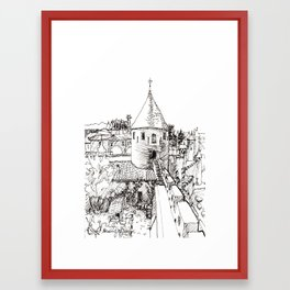 garden tower Framed Art Print