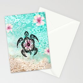 Hibiscus Turtle Stationery Cards