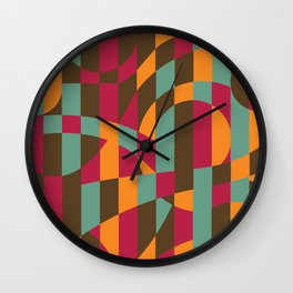 Abstract Graphic Art - Roller Coaster Wall Clock
