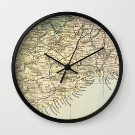 Vintage and Retro Map of Southern Ireland Wall Clock