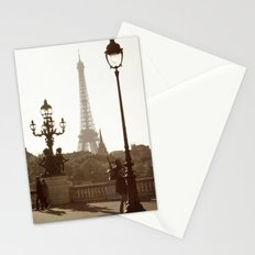 Eiffel Tower and lamp posts Stationery Cards