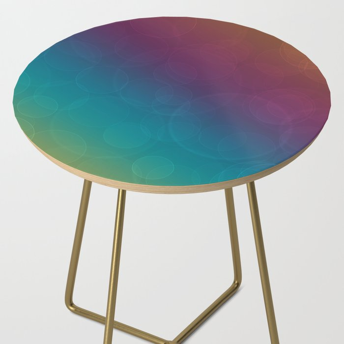 Bohek Bubbles on Rainbow of Color - Ombre multi Colored Spheres Side Table