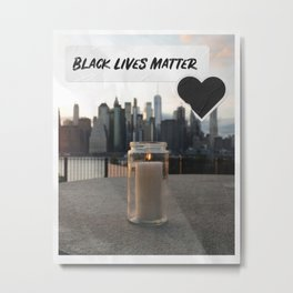 Black Lives Matter Candle Tribute Metal Print