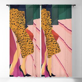 Just steppin' in, and you`re gonna hear me Roar - Fashion illustration Blackout Curtain
